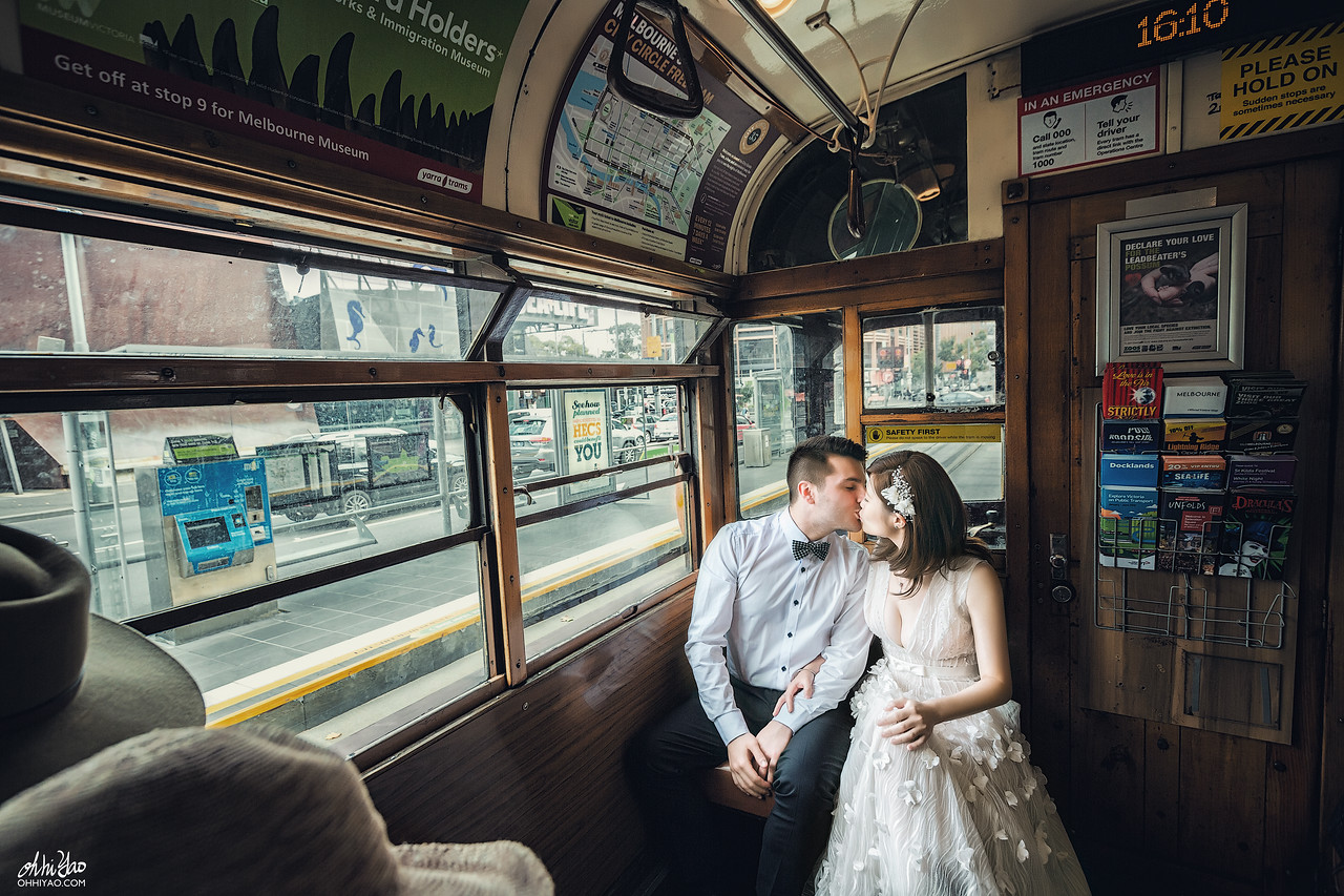 Melbourne Prewedding; Melbourne university; OHHIYAO; Tram; melbourne; prewedding; wedding; 墨爾本大學婚紗; 墨爾本婚紗; 朱飾戴吉; 電車