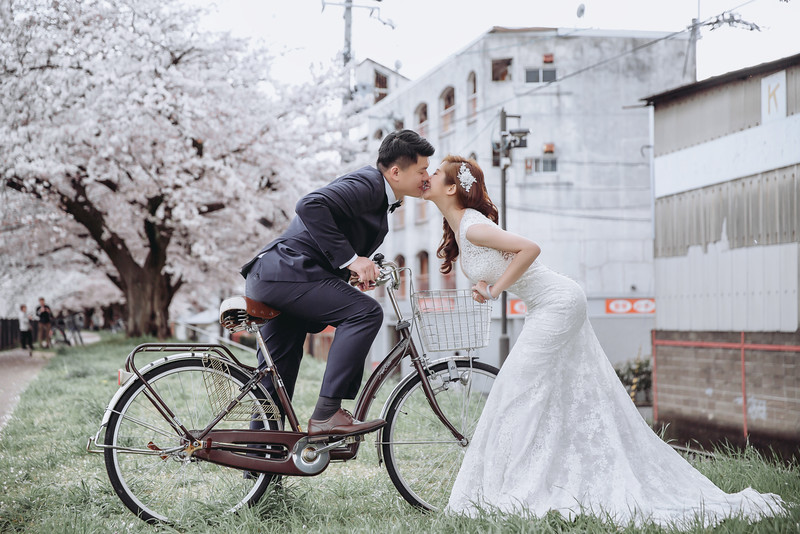 OHHIYAO早安攝影; 日本京都和服婚紗; 日本京都自助婚紗; 朱飾戴吉; 櫻花婚紗